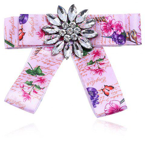 Fashion Women Bow Brooch Clothing Accessories Popular for Girls Gift - PINK