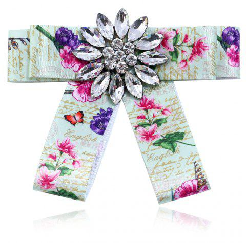 Fashion Women Bow Brooch Clothing Accessories Popular for Girls Gift - CLOVER GREEN