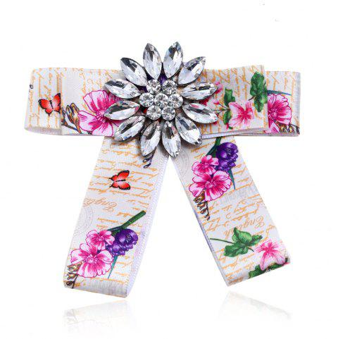 Fashion Women Bow Brooch Clothing Accessories Popular for Girls Gift - BEAN RED