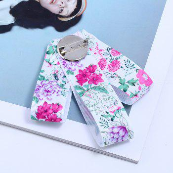 Fashion Manual Bow Brooch Women Clothing Accessories College Cloth Art - BEAN RED