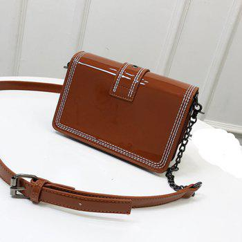 Paint Inclined Shoulder Bag - BROWN