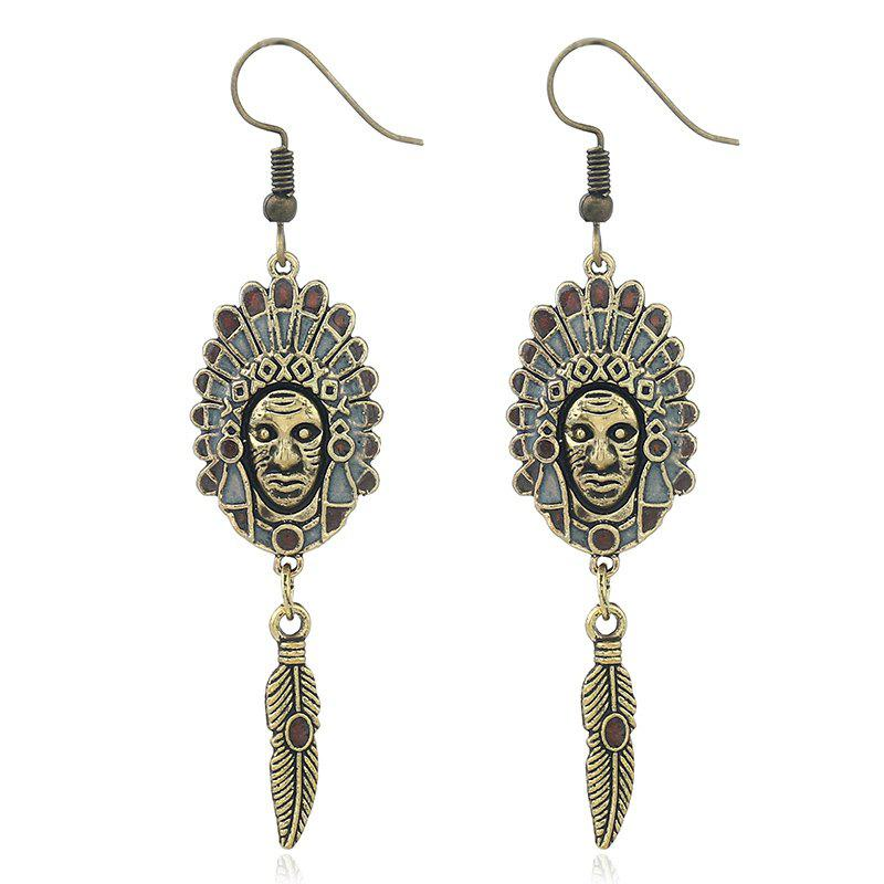 National Wind Indian Pictures of Earrings - CINNAMON