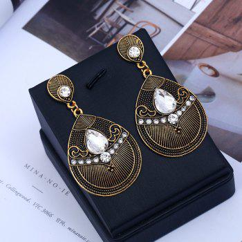 Fashion Jewelry Fashion of Carve Patterns Or Designs on Woodwork Earrings - WHITE