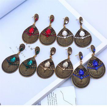 Fashion Jewelry Fashion of Carve Patterns Or Designs on Woodwork Earrings - CARAMEL