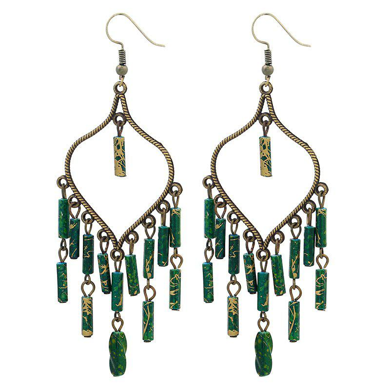 Fashion Jewelry Fashion Multilayer Tassel Ear Hook Earrings - MEDIUM SEA GREEN