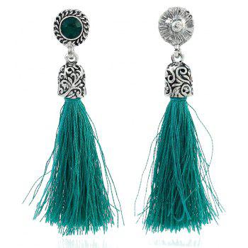 Colorful Line with Temperament Tassel Earrings - YELLOW GREEN