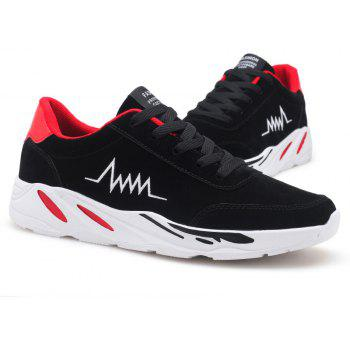 2018 Electrocardiogram Men'S PU Bottom Exercise Shoes - SCARLET 43