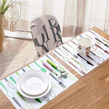 Creative Fashion Design Table Mat 2PCS - multicolor