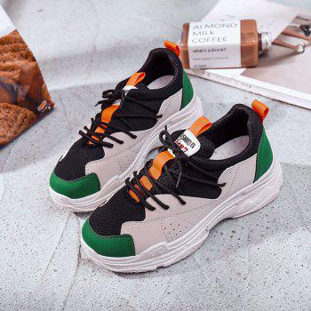 Mutil Color Platform Sneaker Shoes - PINE GREEN 40