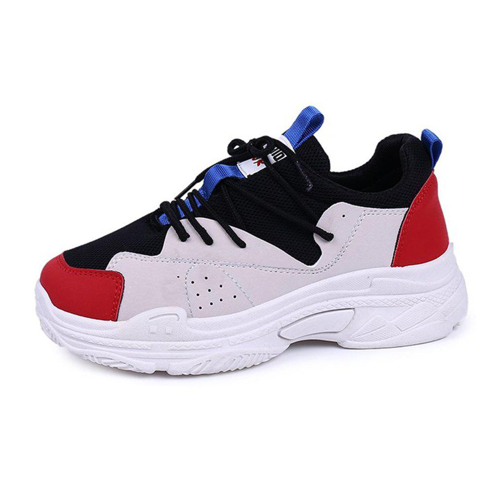 Mutil Color Platform Sneaker Shoes - RED 36