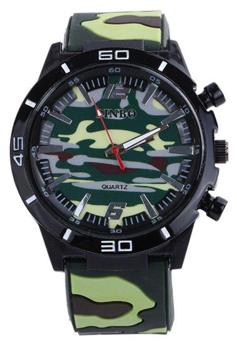 Fashion Camouflage Silicone Watch - GREEN
