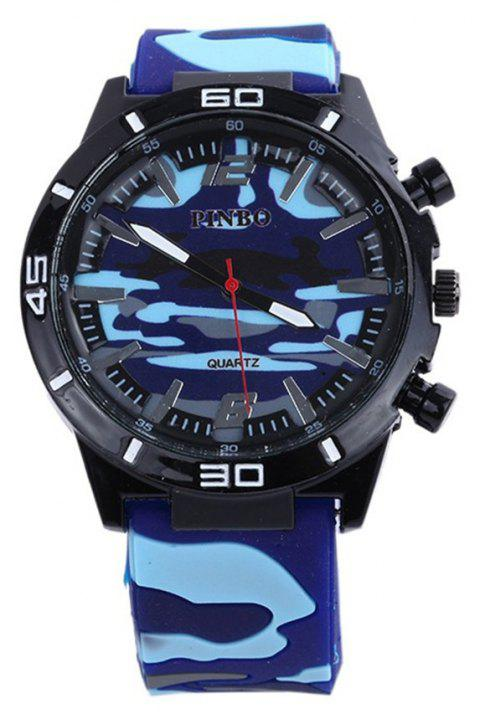 Fashion Camouflage Silicone Watch - DAY SKY BLUE