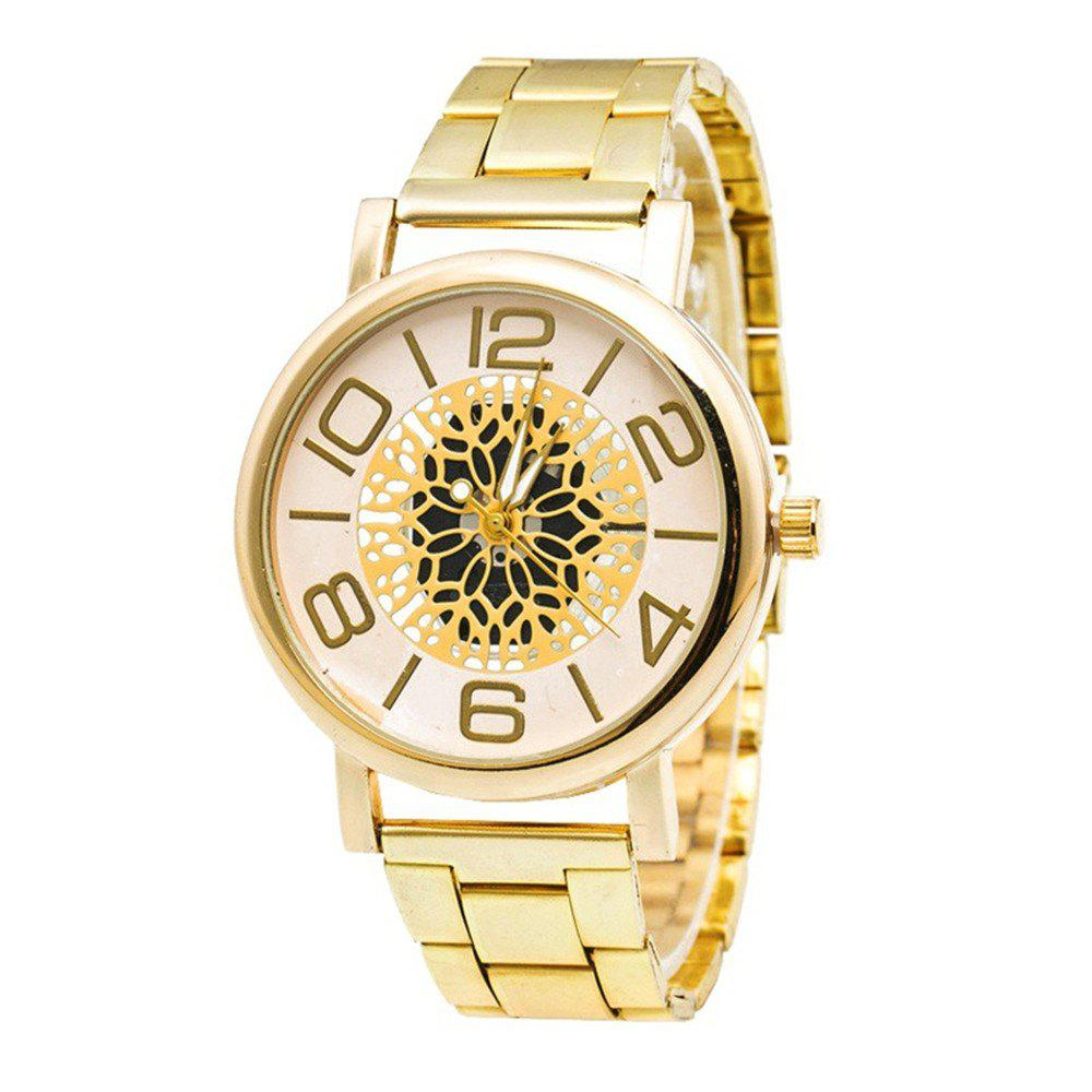 Neutral Stainless Steel Quartz Watch - GOLD