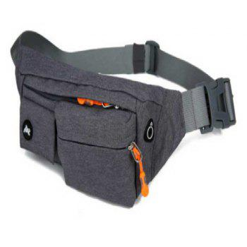 Multifunction Breathable Waist Bag for Outdoor Sports Mountaineering Running - ASH GRAY
