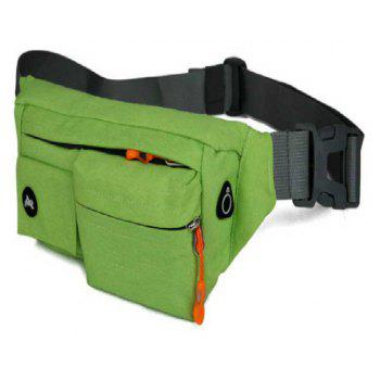 Multifunction Breathable Waist Bag for Outdoor Sports Mountaineering Running - JUNGLE GREEN