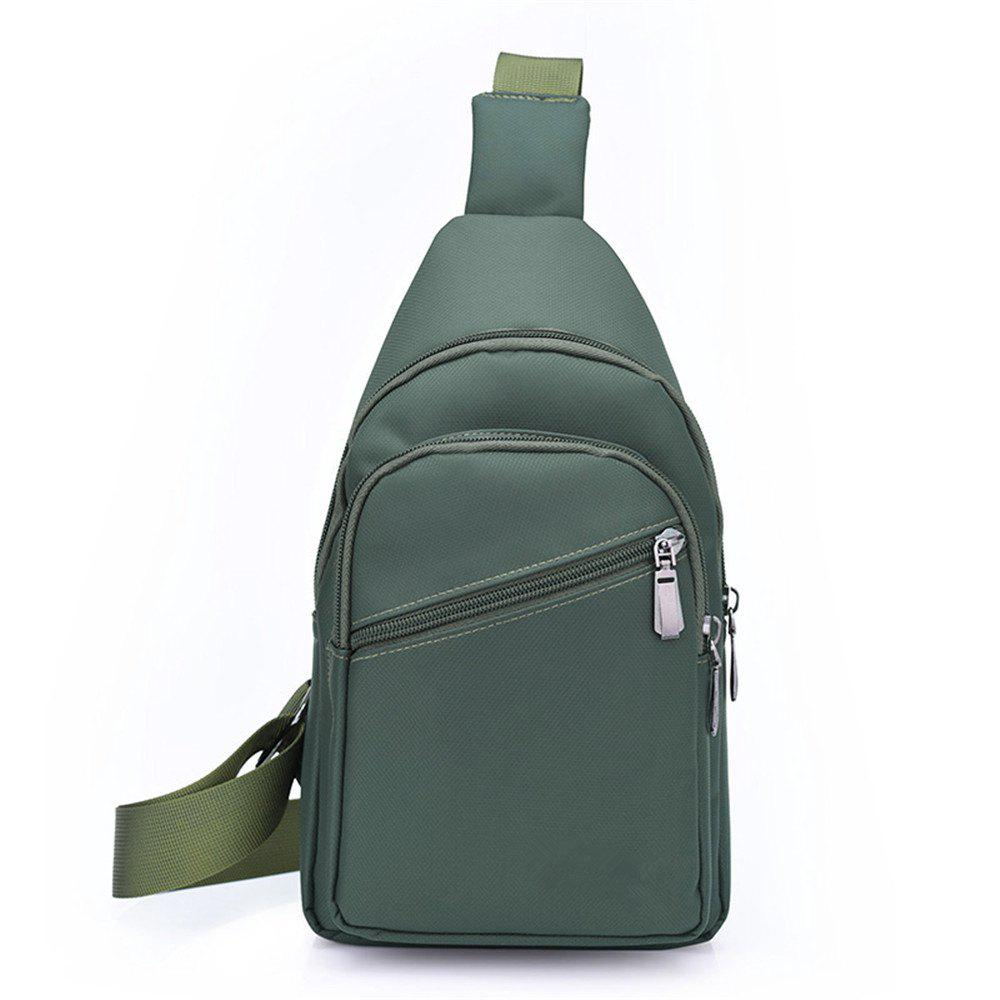 Fashion Nylon Wild Simple Male Travel Shoulder Diagonal Chest Bag Tide - GREEN