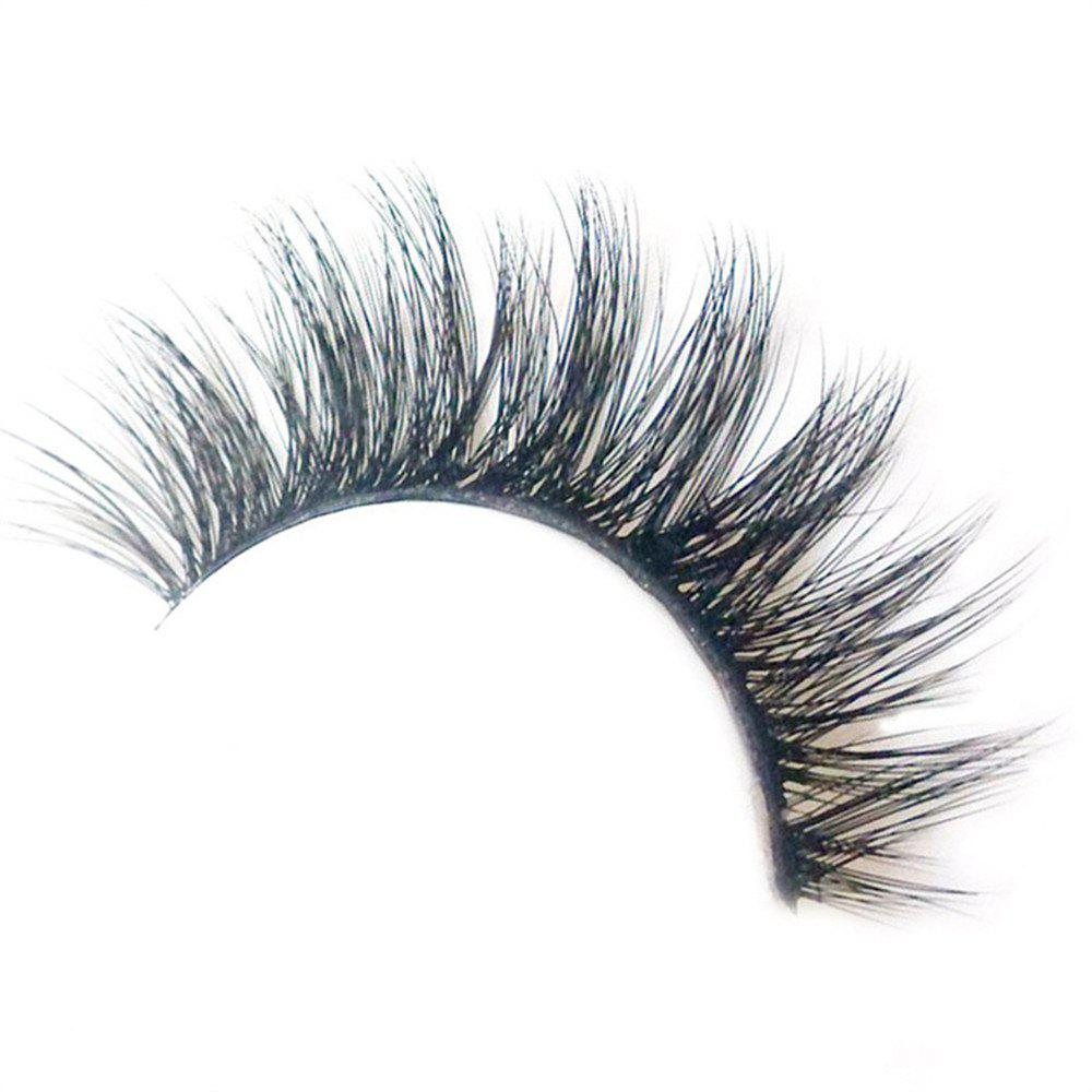 3 Pairs Set Eyelashes 3D Thick HandMade Full Strip Lashes - BLACK