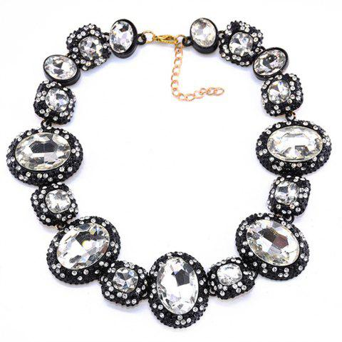 European and American Popular Manufacturers Selling Chain Thick Crystal Necklace - SILVER