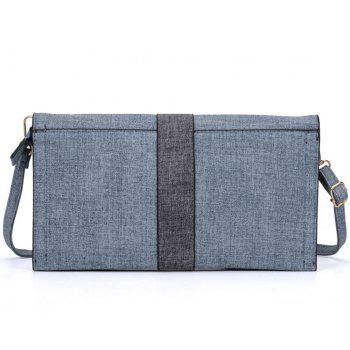Women's Handbag Patchwork Color Block  Bag - MARBLE BLUE