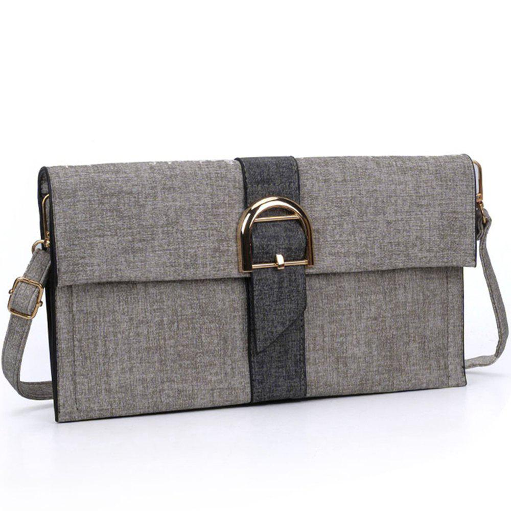 Women's Handbag Patchwork Color Block  Bag - DARK GRAY