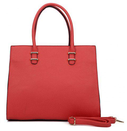 Women's  Solid Color Large Capacity All Match Versatile Bag - RED
