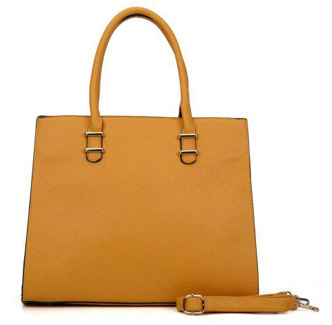 Women's  Solid Color Large Capacity All Match Versatile Bag - GOLDEN BROWN