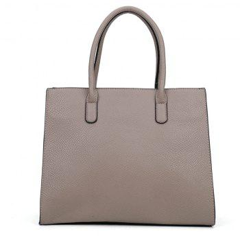 Women's  Solid Color Large Capacity All Match Versatile Bag - DARK GRAY