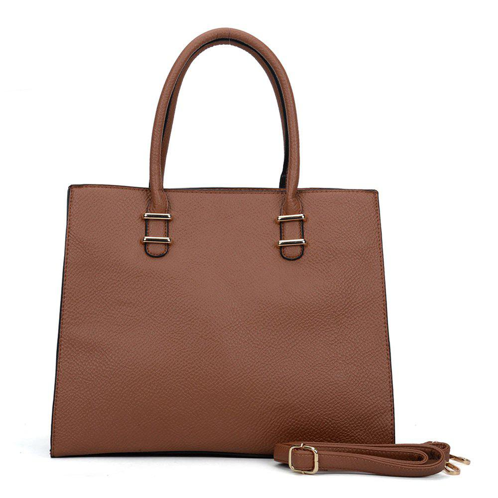 Women's  Solid Color Large Capacity All Match Versatile Bag - BROWN