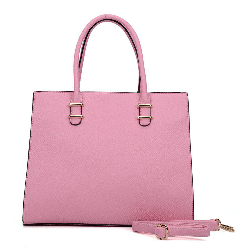Women's  Solid Color Large Capacity All Match Versatile Bag - PINK