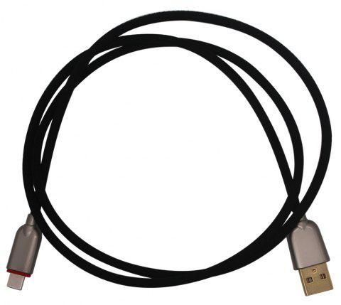 USB Cable for Android 3A Fast Charging Mobile Phone Charger Cord Data Adapter 1M - BLACK