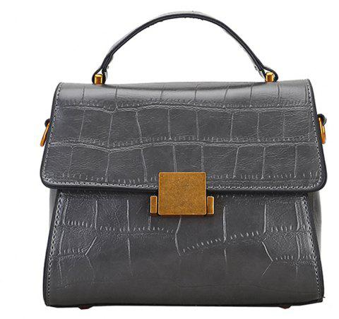 Crossbody Bags for Women's Handbag PU Leather Shoulder Bag - GRAY