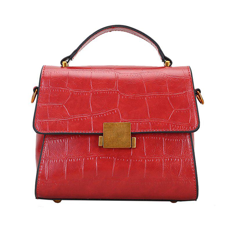 Crossbody Bags for Women's Handbag PU Leather Shoulder Bag - RED