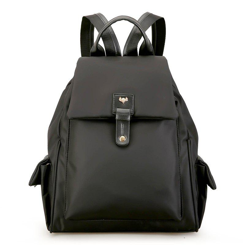 Women Backpacks For Teenage Girls Shoulder Bags - BLACK