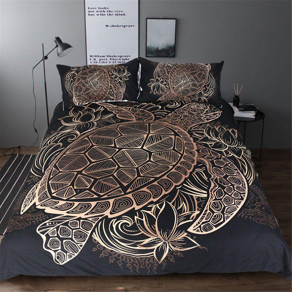 Turtle Bedding 3pcs Duvet Cover Set Digital Print zebra bedding duvet cover set digital print 3pcs