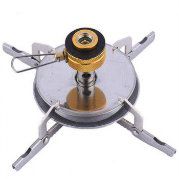 Portable Folding Camping Stove Outdoor Pocket Gas Survival Furnace Picnic - WHITE