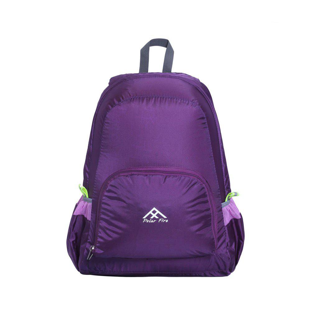 Polar Fire Waterproof Lightweight Foldable Hiking Backpack Outdoor Bag - VIOLET