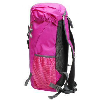 PolarFire Water Resistant Lightweight Nylon Bag Outdoor Travel Climbing Backpack - ROSE RED