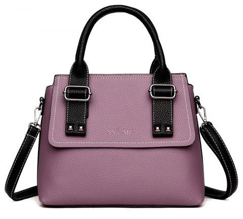 Women's New Slanted Shoulder Bag Lady Style Handbag with Large Capacity - LILAC 29 X 12 X 25