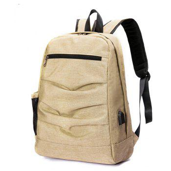 Laptop Backpack with USB Port - YELLOW VERTICAL