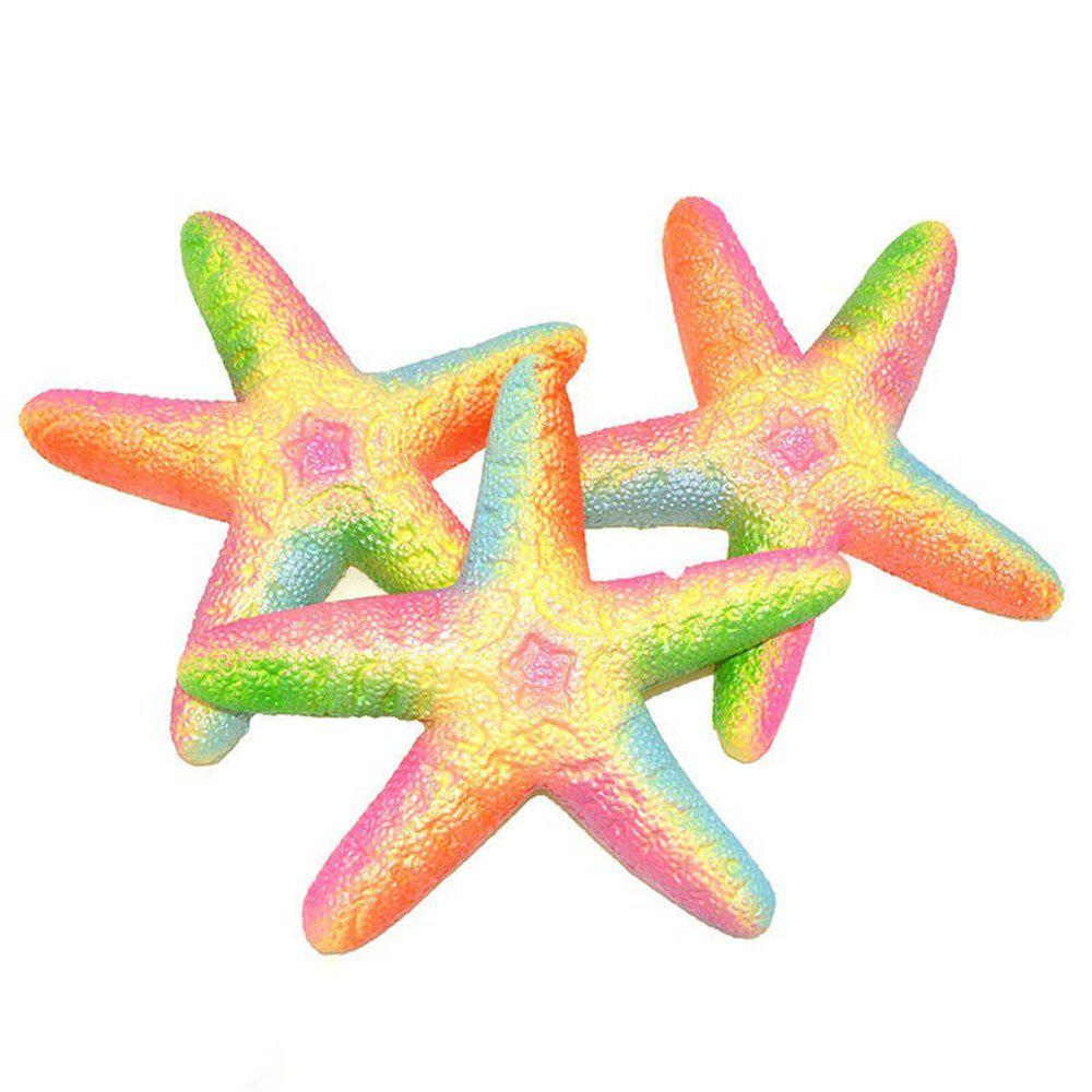 PU Slow Rebound Toy Jumbo Squishy Simulation Starfish Toy 1PC - multicolor A