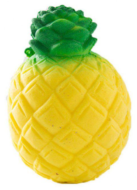 Jumbo Squishy Slow Rebound and Unzip Toy PU Simulation Pineapple Fruit - YELLOW