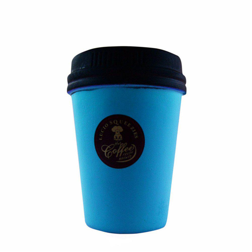 Bursting Jumbo Squishy Slow Rebound PU High Simulation Coffee Cup - BLUE ORCHID