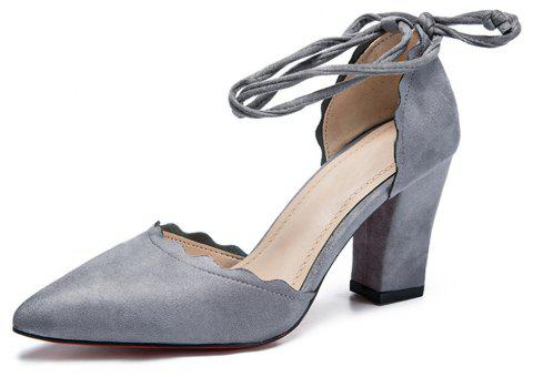 Heeled Pumps  High Heels  Women's Shoes - GRAY 37