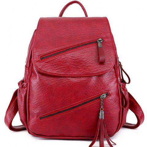 Casual Girls College Backpack - RED