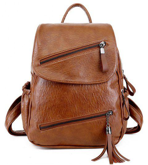 Casual Girls College Backpack - WOOD