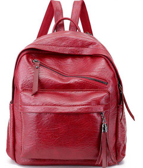 Mini Casual Messenger Backpack - FIRE ENGINE RED