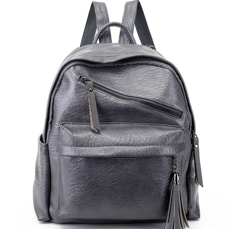 Mini Casual Messenger Backpack - DARK GRAY
