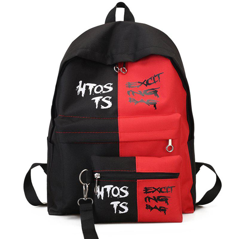 Street Beat Simple Wild Backpack - VALENTINE RED