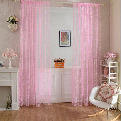 Multicolored Butterfly Flock Curtain Window Screen - PINK 100X199CM