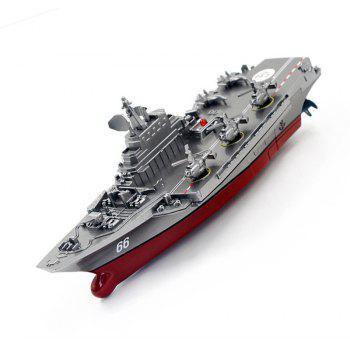 Remote Control Warships 3319 Aircraft Carrier Military Exquisite Model - SILVER